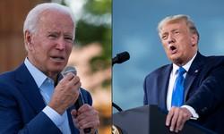 Revelações sobre impostos de Trump acirram preparação para debate com Biden (Fotos: JIM WATSON, Brendan Smialowski / AFP)