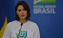 Primeira-dama Michelle lamenta falecimento da avó por Covid-19 (Foto: Marcello Casal Jr. / Agência Brasil)