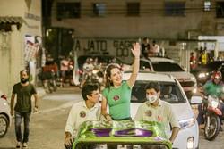 Delegada Patrícia promove carreata em Campina do Barreto e Arruda (Tiago Calazans/Divulgação)