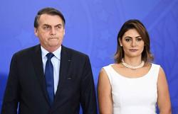 Primeira-dama Michelle Bolsonaro anuncia que seu exame de Covid-19 deu negativo (Foto: Evatisto Sa/AFP)
