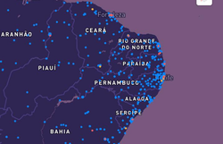 Nova plataforma mostra nível de contaminação da Covid-19 em ruas do Brasil (Foto: Reprodução)