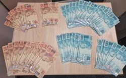 Polícia prende em flagrante trio com R$ 3.500 em notas falsas (Foto: PF/Divulgação)