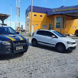 Suspeito de ameaça e extorsão é detido pela PRF, em Igarassu (Foto: Divulgação/PRF)