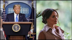 Trump ataca Meghan Markle e deseja 'boa sorte' ao príncipe Harry (Foto: AFP)