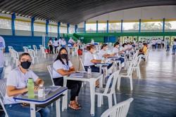 Igarassu promove mutirão para a segunda dose da vacinação contra Covid-19 no sábado (Foto: IVONILDO PEDRO / SECOM  )