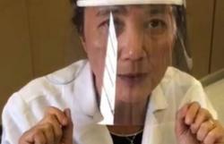 Medicina da USP ensina passo-a-passo de máscara de R$ 1 contra o coronavírus (Foto: Ciência Usp/Instagram/Reprodução)