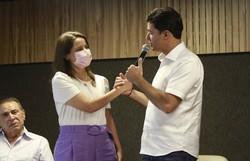 Raquel Lyra e Anderson Ferreira anunciam agenda para compor um projeto político (Foto: Rômulo Chico/Esp. Diario de Pernambuco)