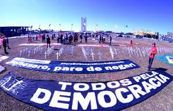 Organizações e movimentos se reúnem para pedir impeachment de Bolsonaro (Foto: Ed Alves/CB/D.A Press)