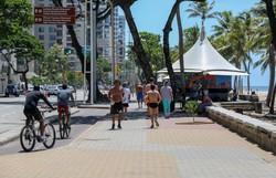 Recife libera atividade física individual sob orientação ao ar livre (Leandro de Santana / Esp. DP FOTO)