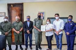 Centro de Camaragibe recebe unidade da Polícia Militar (Victor Patrício/Prefeitura de Camaragibe)