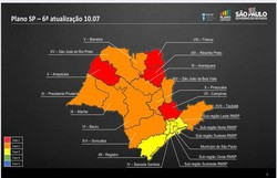 Covid-19: estado de São Paulo tem quatro regiões na fase vermelha (Foto: Divulgação/Governo do Estado)