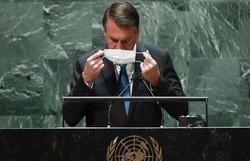 NY Times sobre Bolsonaro na ONU: 'Defendeu uso de drogas ineficazes' (foto: EDUARDO MUNOZ / POOL / AFP)