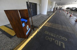 Senadores voltam a Brasília após seis meses e estreiam votação drive-thru (Foto: Jefferson Rudy/Agência Senado)