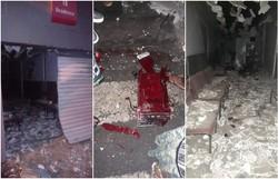 Suspeitos explodem caixa do Bradesco de Tacaimbó na madrugada desta segunda (Foto: Reprodução/PMPE.)