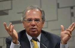 Ema ataca o ministro Paulo Guedes na Granja do Torto (Foto: Fábio Rodrigues Pozzebom/ Agência Brasil )