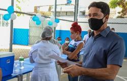 Jaboatão inicia vacinação nos estudantes de 12 a 17 anos nas escolas (Foto: Chico Bezerra/PJG)