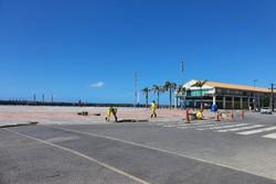 Canaletas do Marco Zero são substituídas por novas estruturas (Foto: Comunicação Luiz Eustáquio/Divulgação)