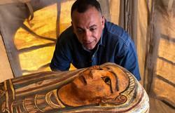 Sarcófagos de 2.500 anos são encontrados no Egito (Foto: Egyptian Ministry of Antiquities/AFP  )