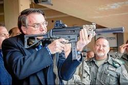 Exportações de armas aumentaram 30% durante o governo Bolsonaro (crédito: instagram)
