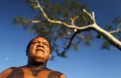 Covid-19: Morre cacique Aritana Yawalapiti, ativista de direitos indígenas (Foto: UESLEI MARCELINO/AFP)