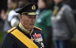 Rei Harald da Noruega, 83 anos, hospitalizado em Oslo (Foto: JOHN THYS / BELGA / AFP)