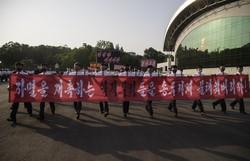 Coreia do Norte anuncia corte de comunicação com 'inimigo' do sul (Foto: KIM Won Jin/AFP)