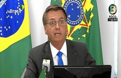 Mesmo com desmatamento, Bolsonaro nega devastação da Amazônia (Foto: Reprodução/Youtube)