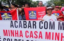 Movimento  Nacional de Luta Pela Moradia realiza protesto nesta terça, em Olinda (Foto: Divulgação)