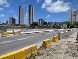 Ponte é interditada para serviço em Olinda (Foto: Divulgação/Cehab )