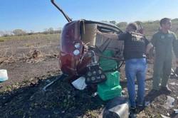 Aeronave que caiu no MT com 300kg de cocaína era de policial civil do DF (Droga apreendida em aeronave. Foto: Ciopaer/Divulgação)