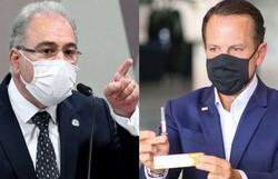 Queiroga e Doria batem boca sobre vacinação em São Paulo (Foto: Jefferson Rudy/Agência Senado/Governo do Estado de São Paulo)
