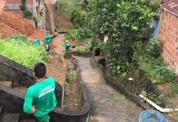 Reeducandos reforçam limpeza de espaços públicos na Região Metropolitana (Foto: Divulgação)