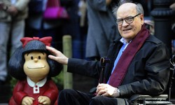 Artistas e cartunistas relembram Quino, criador de Mafalda, morto nesta quarta (Foto: Miguel Riopa/AFP )