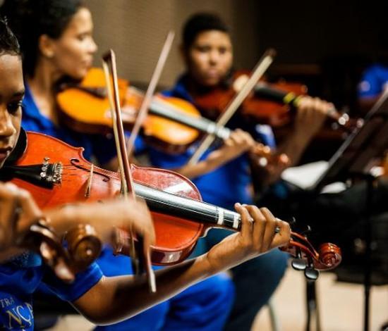 Orquestra Criança Cidadã é reconhecida como patrimônio imaterial e realiza live (Leandro Lima/Divulgação)