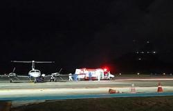 Noronha realiza o primeiro voo noturno após instalação do novo sistema de iluminação na pista do aeroporto (Foto: Karol Vieira/Noronha )