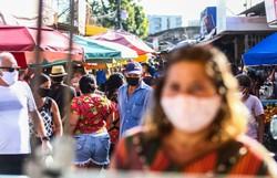Ministério Público alerta que circulação de pessoas sem uso de máscaras é crime (Fotos: Bruna Costa / Esp. DP FOTO )