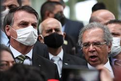 Após Bolsonaro ser diagnosticado com covid-19 , exame de Guedes dá negativo (Foto: Marcos Correa/PR)