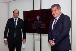 Ministro do TST defende reforço da conciliação (Balazeiro e Moutinho debateram os desafios do direito durante café da manhã no ILMM. Foto: Rafael Vieira/ESP. DP Foto)