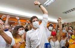 'Governaremos para todos os recifenses', diz João Campos em primeiro pronunciamento (Foto: Leandro de Santana/DP )