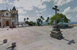 Crucifixo do Alto da Sé, em Olinda, é depredado na madrugada deste sábado (8) (Foto: Reprodução/ Google Maps )