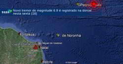 Terremoto atinge o Atlântico próximo a Fernando de Noronha (Foto: Reprodução)