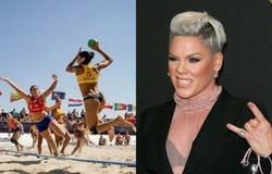 Pink diz que irá pagar multa de equipe feminina que se recusou a usar biquíni (crédito: JEAN-BAPTISTE LACROIX/AFP)