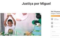 Petição #JustiçaporMiguel tem mais de 764 mil assinaturas (Foto: Reprodução)