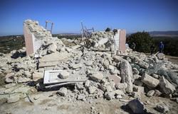 Terremoto na ilha grega de Creta deixa um morto e 11 feridos (Foto: Costas Metaxakis / AFP )