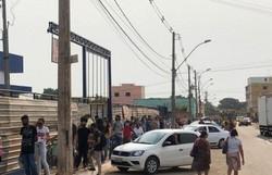 Mulher é atropelada em fila para emprego em supermercado no DF (Foto: Material cedido ao Correio Braziliense)