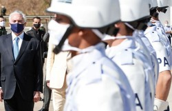 Temer se encontra primeiro-ministro interino do Líbano (Foto: Alan Santos/PR)