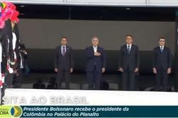 Bolsonaro recebe presidente da Colômbia no Palácio do Planalto (Foto: Reprodução/YouTube)