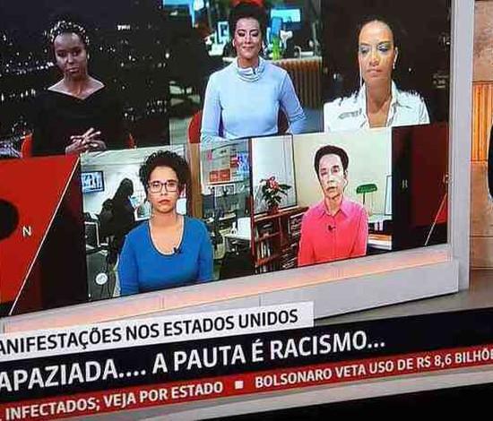 Após críticas, GloboNews apresenta jornal apenas com negros (Divulgação)