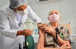 Camaragibe inicia vacinação de idosos a partir de 80 anos nesta segunda  (Foto: Victor Patrício/Divulgação )