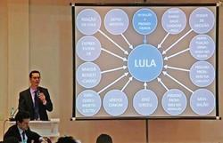 Dallagnol será julgado em conselho presidido por Aras por PowerPoint contra Lula (Foto: Reprodução/Youtube)